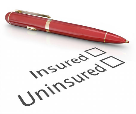 Insured or uninsured question and pen to check box to answer if